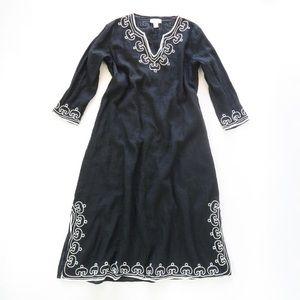 Soft Surroundings Linen Caftan Long Tunic Dress